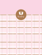 Product Image For Baby Pink Plaid Note Card