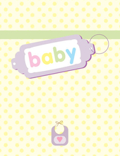 Product Image For Baby Tag Note Card