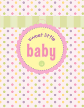 Product Image For Sweet Baby Tag Note Card