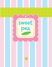 Product Image For Sweet Pea Tag Note Card