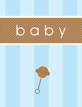 Product Image For Baby Rattle Note Card