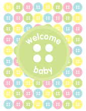 Product Image For Baby Button Note Card