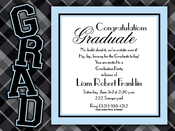 Product Image For Plaid Grad Boy Invitation