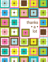 Product Image For Retro Quilt Note Card