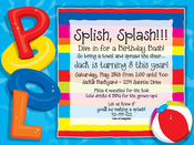 Product Image For Party at The Pool Invitations
