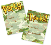 Product Image For Camo Party Fill In Invitation and Thank You Cards