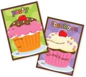 Product Image For Cupcakes Party Fill In Invitation and Thank You Cards