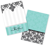 Product Image For Pretty Brocade Invitation and Thank You Set