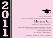 Product Image For color Band Grad- Pink Invitation