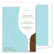 Product Image For Swirled Bouquet Bali Invitation- With lined envelopes