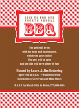 Product Image For Gingham BBQ Brown Invitation