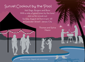 Product Image For Sunset Pool Cookout Invitation