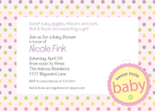 Product Image For Sweet Baby Tag Invitation