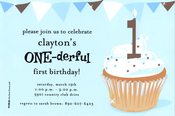 Product Image For One-derful Boy Invitation