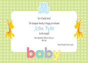 Product Image For Baby Animals Invitation