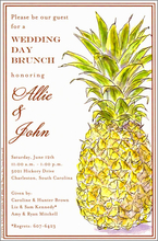 Product Image For Classic Pineapple Invitation