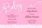 Product Image For Baby Pink Invitation
