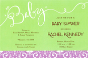 Product Image For Baby Green Invitation