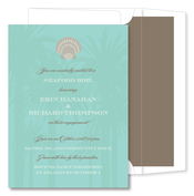 Product Image For Scallop Palm Trees Invitation