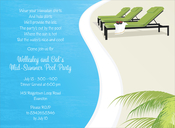 Product Image For Pool Chaise Invitation