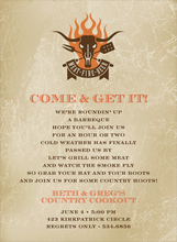 Product Image For Meat Fire Beer Invitation