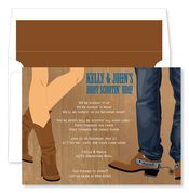 Product Image For Boot Scootin Wood Invitation