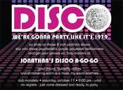 Product Image For Disco Ball Invitation