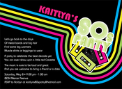 Product Image For 80s Party Invitation
