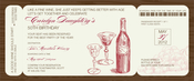 Product Image For Wine Boarding Pass Invitation