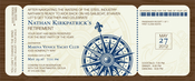 Product Image For Nautical Boarding Pass Invitation