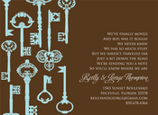 Product Image For Key Pattern Chocolate Invitation