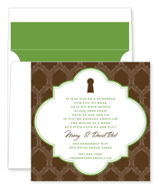 Product Image For Keyhole Chocolate Invitation