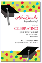 Product Image For Fun Dots Grad Digital Invitation