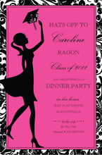 Product Image For Toss Pink and Black Digital Invitation