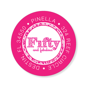 Product Image For Pink Leopard 50 Boarding Pass Label