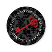 Product Image For Damask Key Black & Berry Label