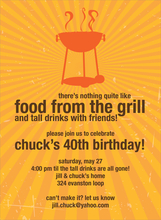 Product Image For Grill Sunburst Invitation