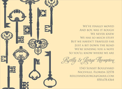Product Image For Key Pattern Buttercup Invitation