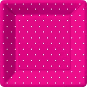 Product Image For Swiss Dots -Pink  Dinner Plate