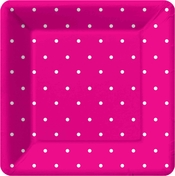 Product Image For Swiss Dots -Pink Dessert Plate