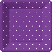 Product Image For Swiss Dots -Purple  Dinner Plate