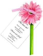 Product Image For Pink Gerber Daisy with Pink Ribbon Die Cut