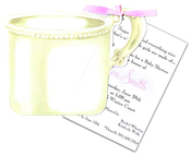 Product Image For Silver Baby Cup with Pink Ribbon