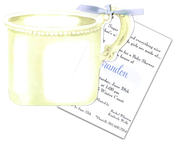 Product Image For Silver Baby Cup with Blue Ribbon