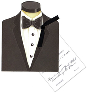 Product Image For Tuxedo With Black Ribbon Tag