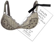 Product Image For Black Polka Dot Bra with Black Ribbon Invitation