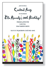 Product Image For Crazy Candles Invitation
