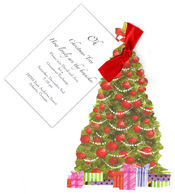 Product Image For Christmas Tree 12 Die Cut Invitation
