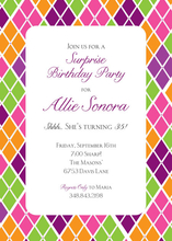 Product Image For Argyle Surprise Invitation
