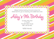 Product Image For Bright Retro Invitation